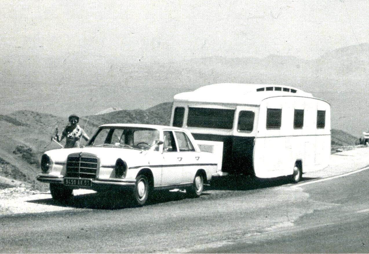Attelage caravane Notin Florilège années 70