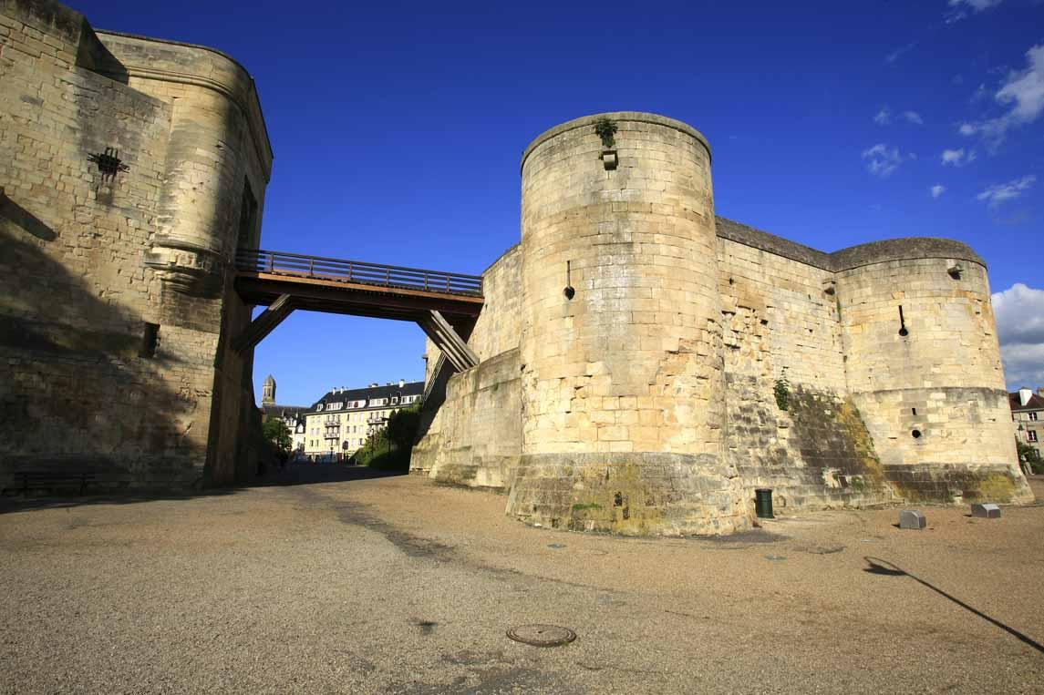 Le château du duc Guillaume Le Conquérant à Caen