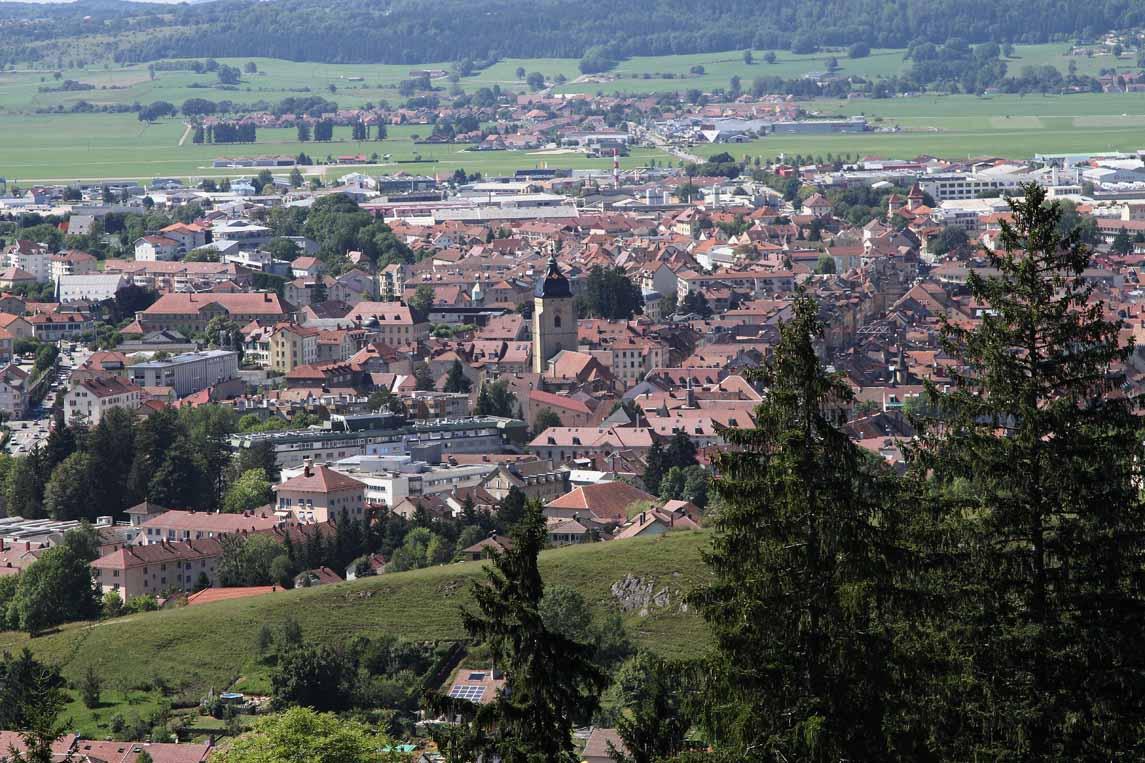 La ville de Pontarlier dans le Haut-Doubs