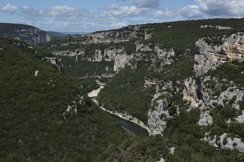 Les superbes gorges de l'Ardèche