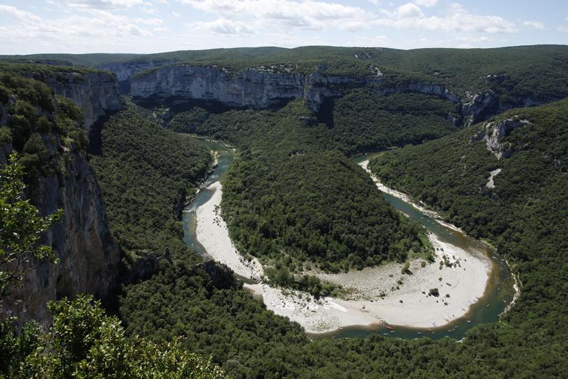 Le Cirque de la Madeleine, méandre de l'Ardèche