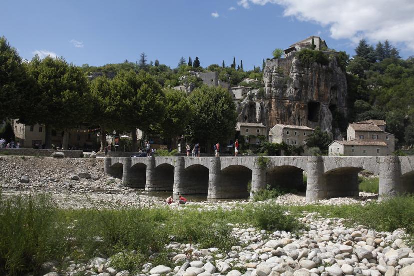Le village de Labeaume en Ardèche