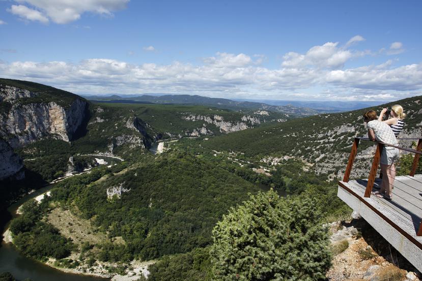 Sur la route touristique des gorges de l'Ardèche