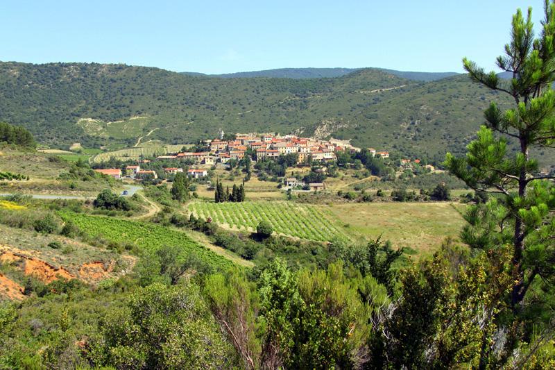 Le village de Cucugnan dans l'Aude