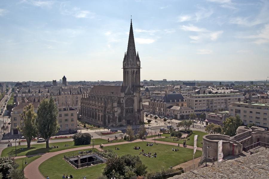 Caen préfecture du Calvados en Basse-Normandie