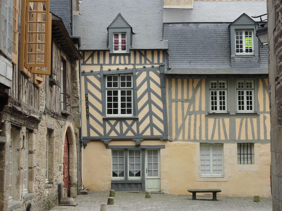 La vieille ville de Rennes en Ille-et-Vilaine