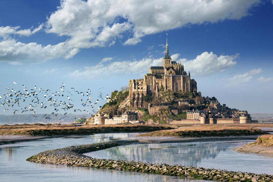 Le Mont Saint-Michel dans la Manche