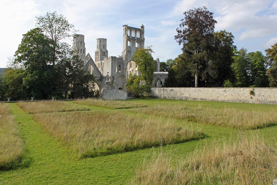 L'abbaye de Jumièges en Seine-Maritime