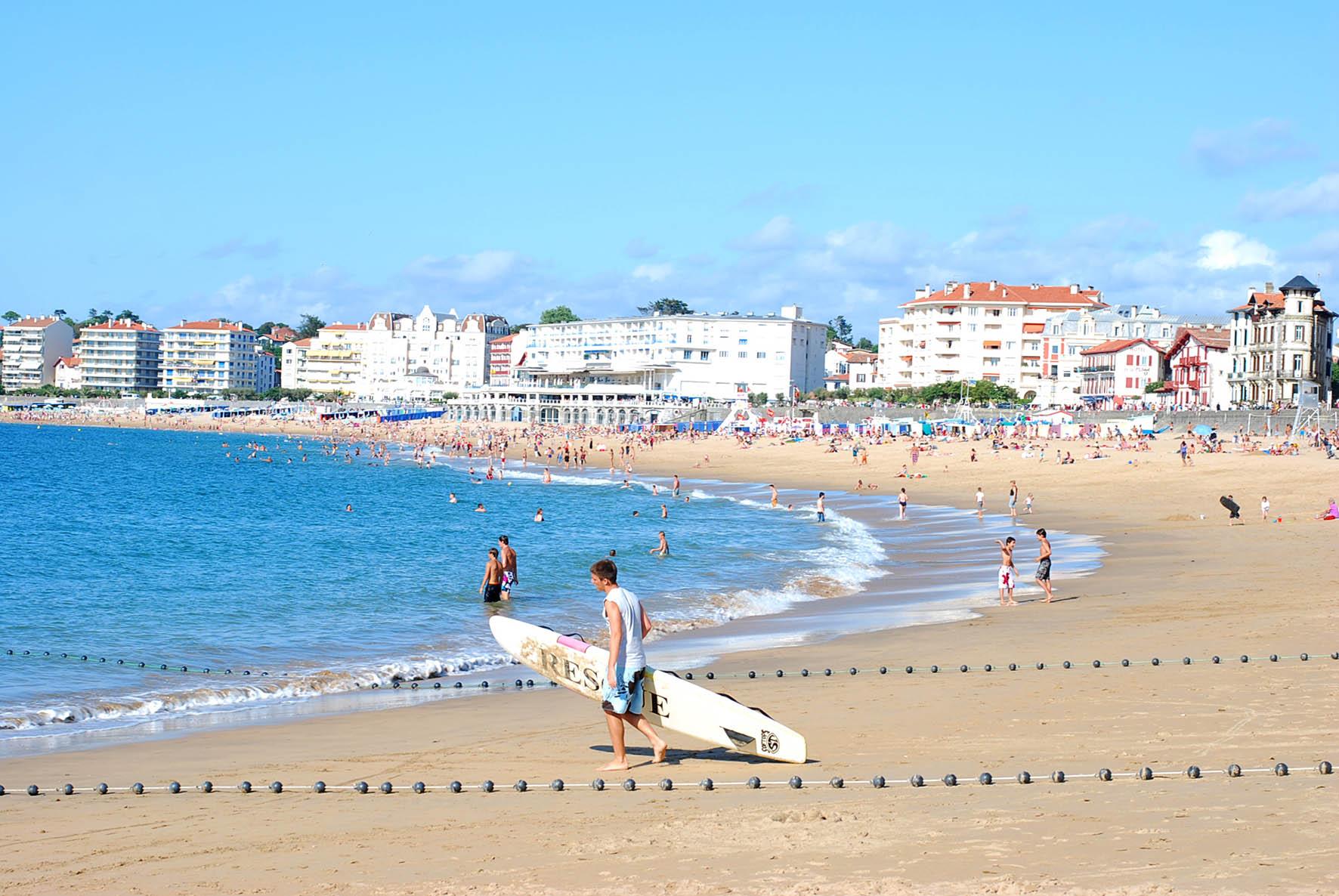 La plage centrale de Saint-Jean de Luz
