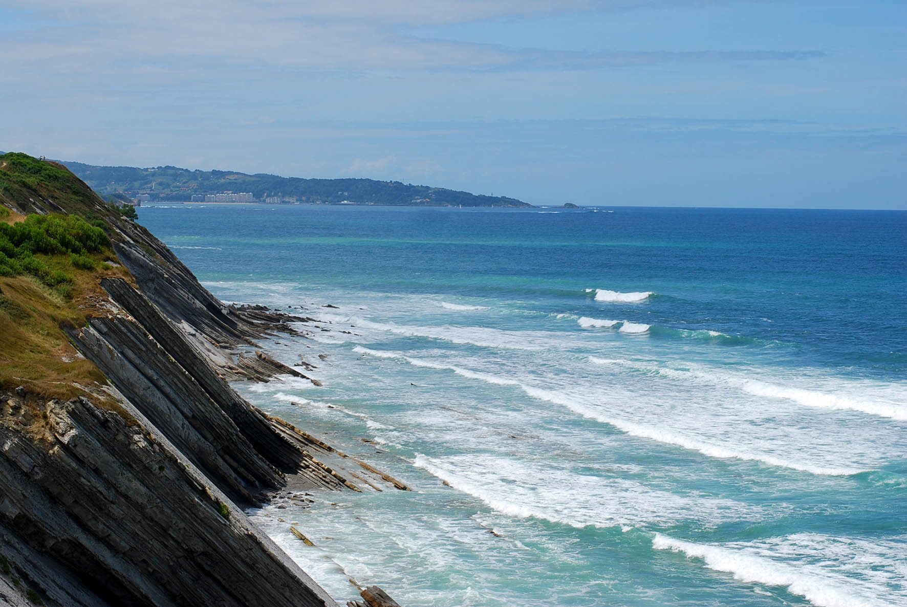 La falaise de la Corniche Basque