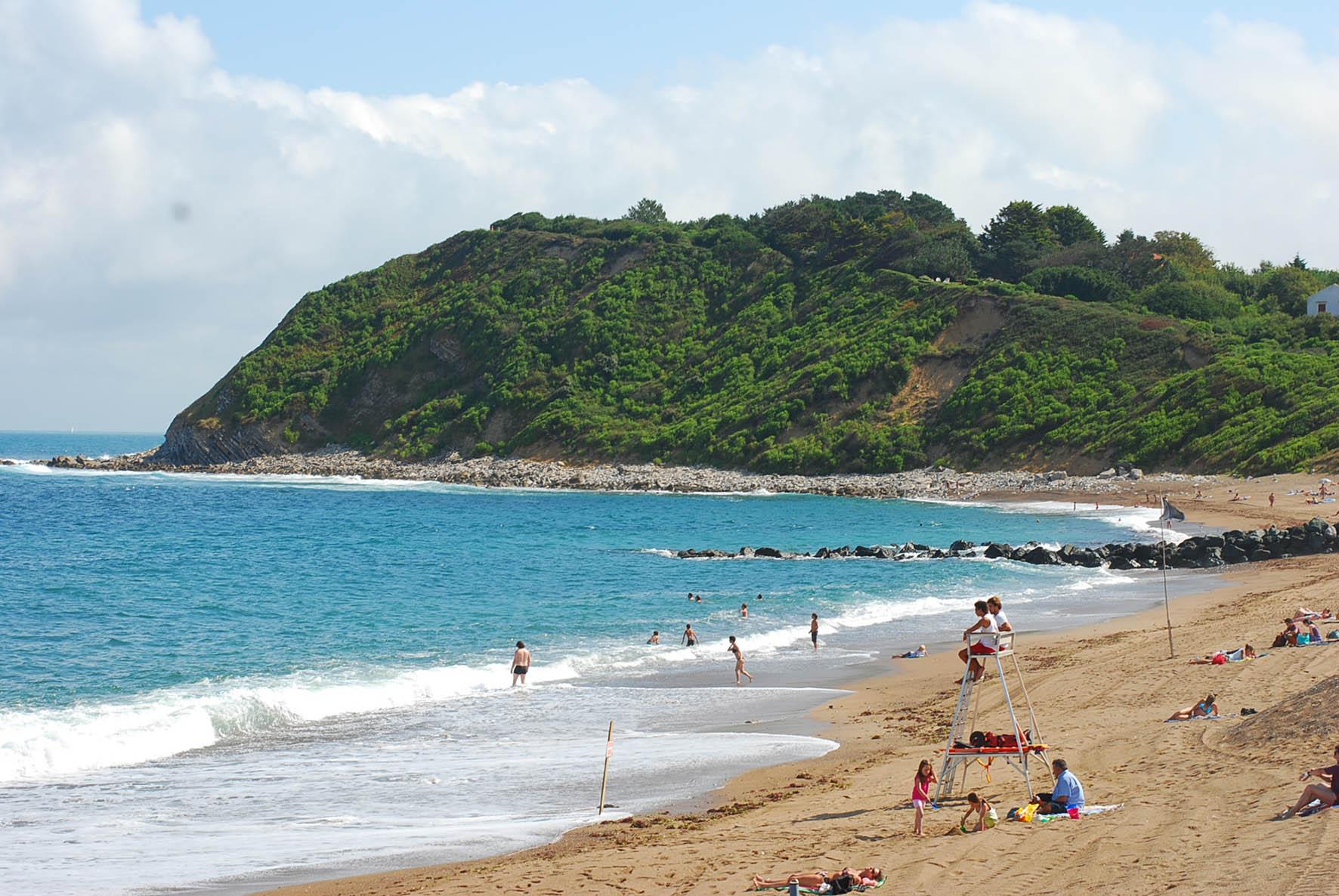 La plage de Mayarco à Saint-Jean de Luz