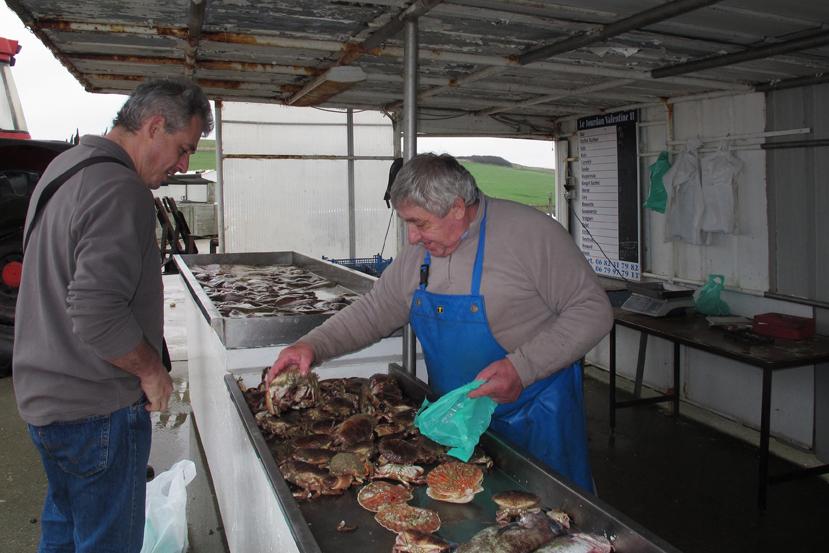Vente de fruits de mer à Saint-Aubin