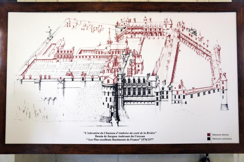 Plan du château d'Amboise