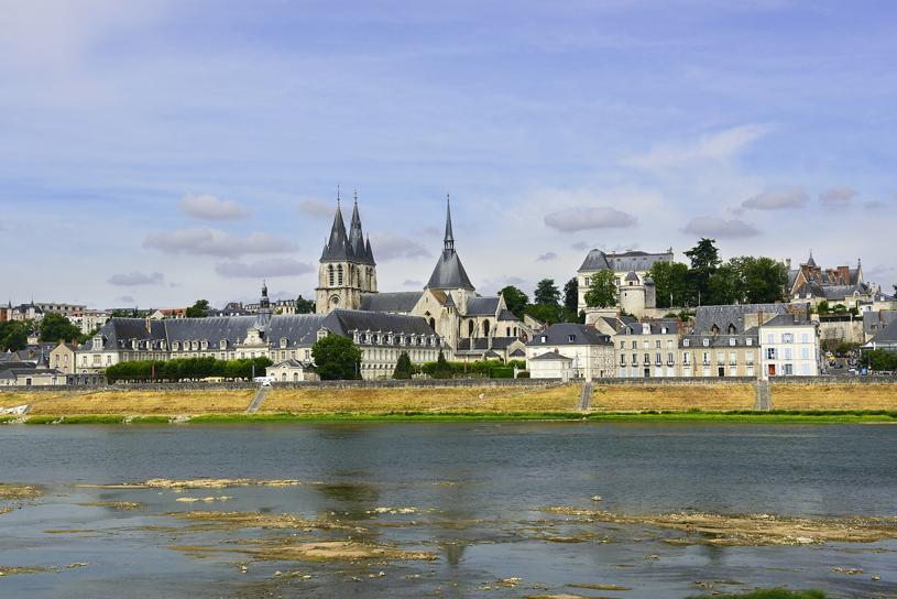 La ville de Blois sur les rives de la Loire