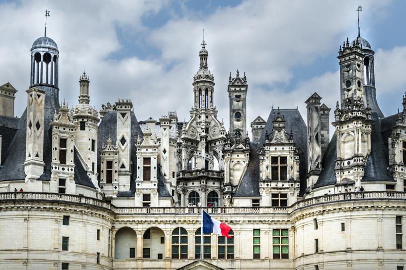 Le château de Chambord dans le Loir-et-Cher