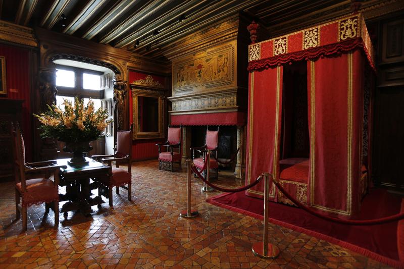 La chambre César de Vendôme du château de Chenonceau