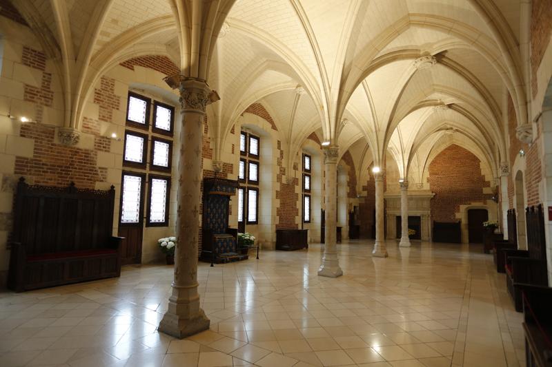 La grande salle du conseil du château d'Amboise