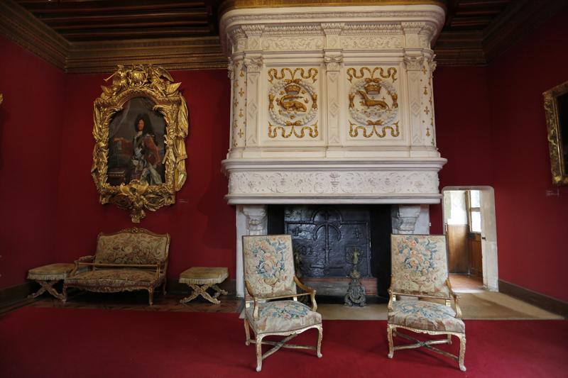 Le salon Louis XIV du château de Chenonceau