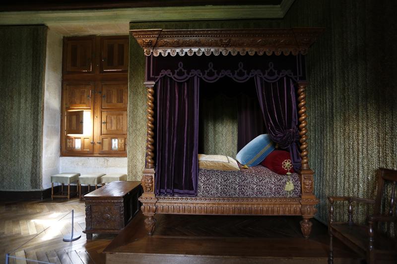La chambre Renaissance du château d'Azay-le-Rideau