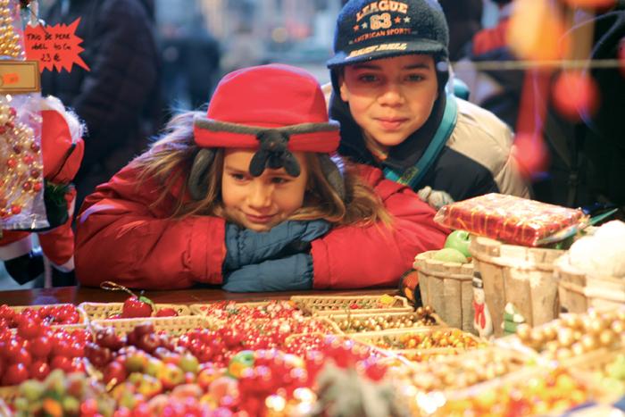 Au traditionnel marché de Noël de Strasbourg