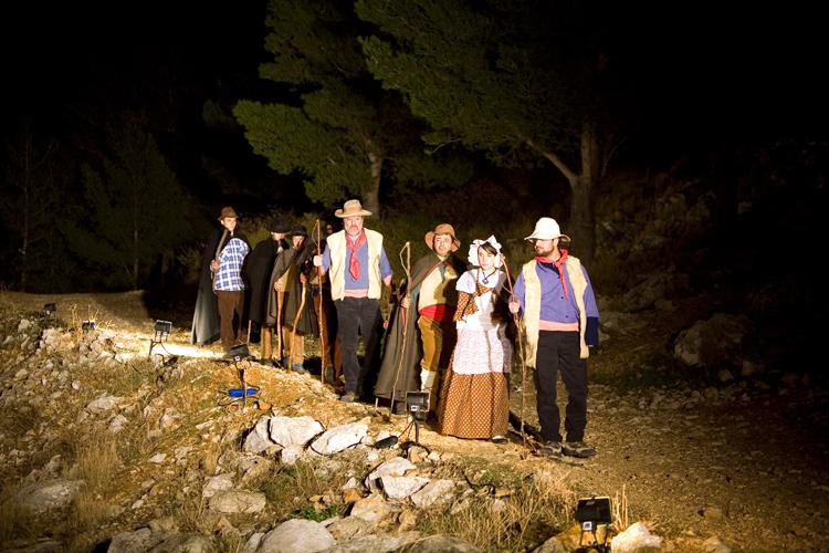 Les habitants d'Allauch créent des tableaux vivants pour faire renaître la tradition du pastrage