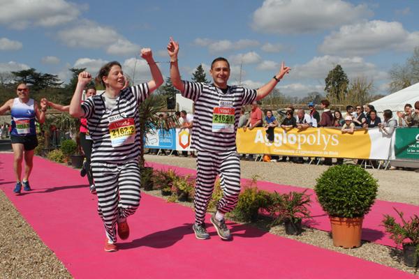 L'arrivée du Marathon de Cheverny se fait au Village Marathon à Cheverny