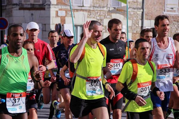 Les coureurs au départ du Marathon de Cheverny