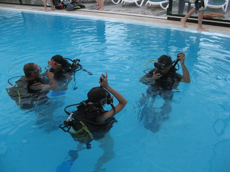 Baptême de plongée sous-marine au camping La Chênaie à Pornic