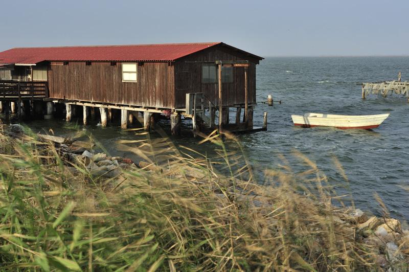 Sur le delta du Pô en Italie du Nord