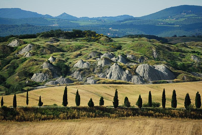 Les Crêtes Siennoises, région au sud de Sienne
