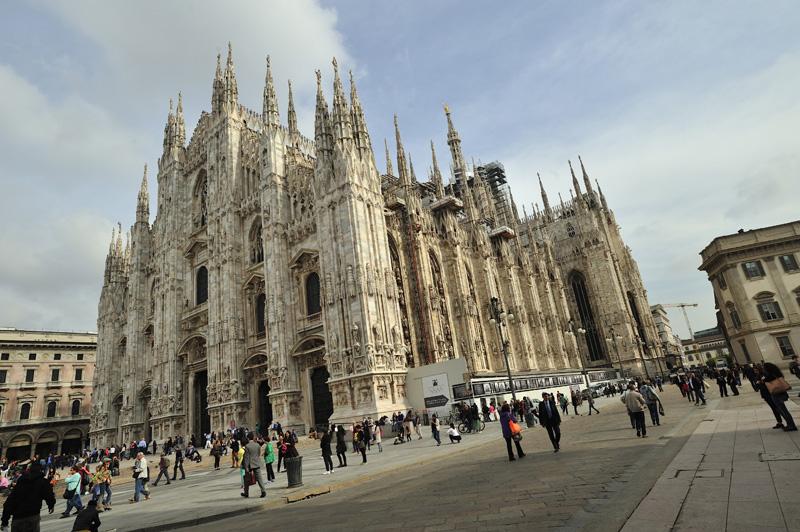 La cathédrale de Milan en Italie du Nord