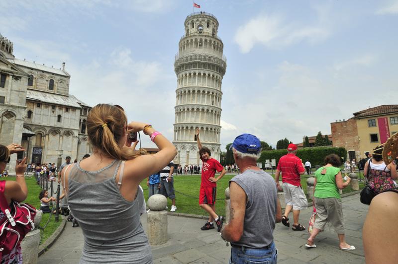 La tour de Pise en Toscane