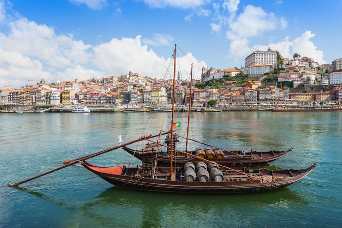Les rabelos sur le Douro à Porto