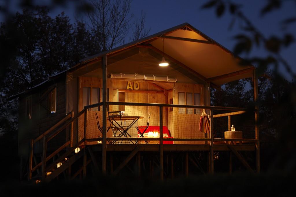 Cabane Lodge au Moulin de Surier à Beaumont-du-Périgord en Dordogne