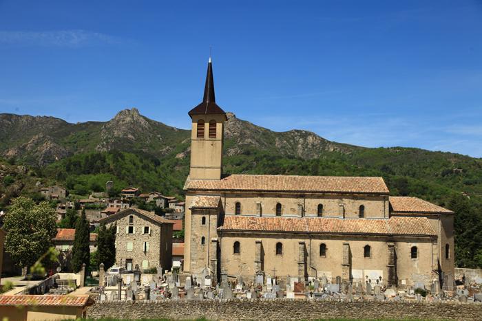 L'église de Jaujac en Ardèche