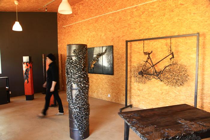 La salle d'exposition des sculptures d'Yso