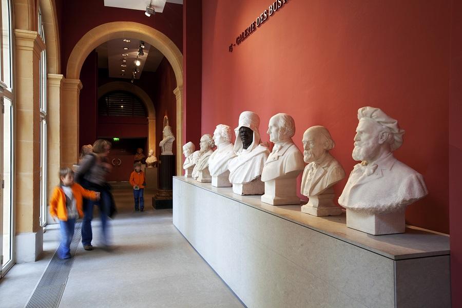 Dans la galerie des bustes du musée Granet à Aix-en-Provence