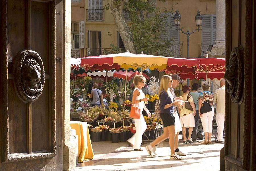 Les marchés colorés d'Aix-en-Provence