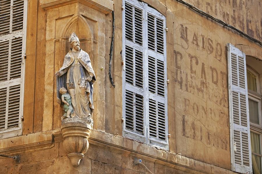 Place Saint-Honoré dans le centre d'Aix-en-Provence