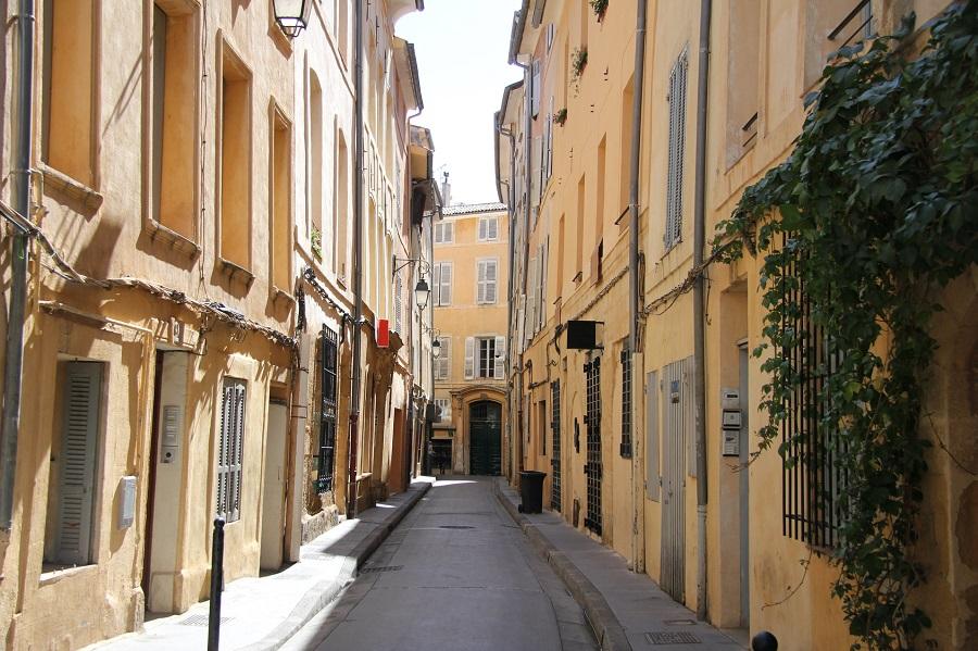 Dans le vieux centre d'Aix-en-Provence