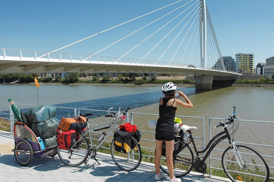 La Loire à Vélo, étape à Nantes