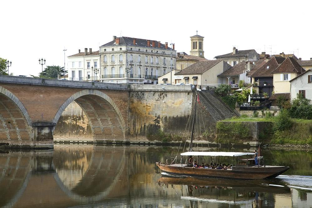 Une gabarre sur la Dordogne à Bergerac