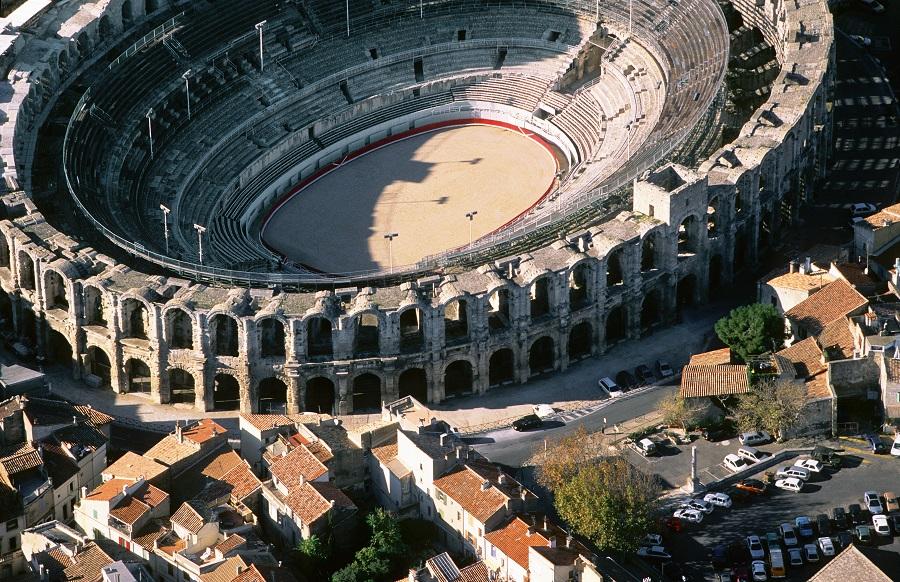 Les arènes romaines à Arles dans les Bouches-du-Rhône