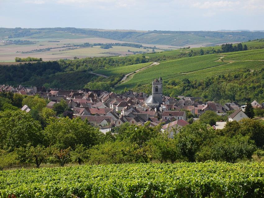 Le village d'Irancy dans l'Yonne