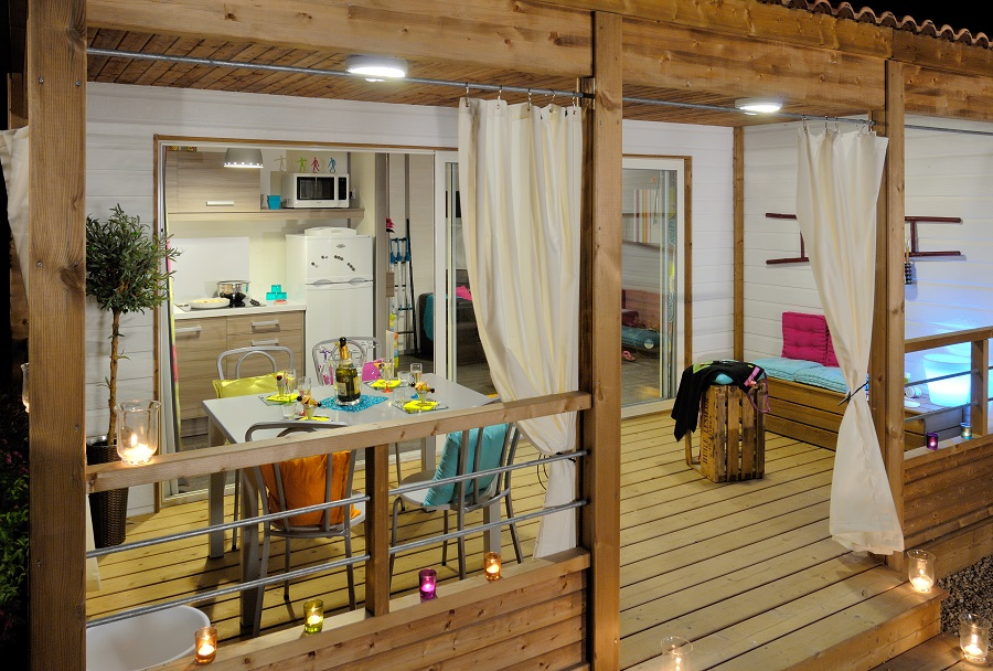 Camping mobil home chalet - Amenagement interieur mobil home ...