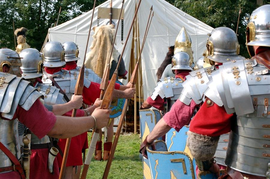 Les campus des soldats romains, les premiers campings