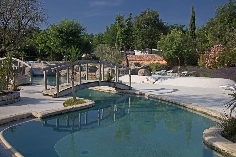 Le parc aquatique du camping Soleil Vivarais à Sampzon