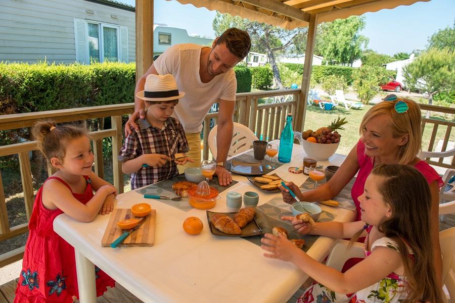 Vacances en camping en famille