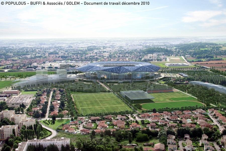 Le stade du Parc Olympique Lyonnais à Lyon pour l'Euro 2016