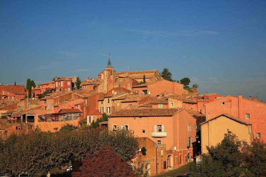 Le village perché de Roussillon dans le Vaucluse